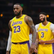 LeBron James and Anthony Davis of Los Angeles Lakers