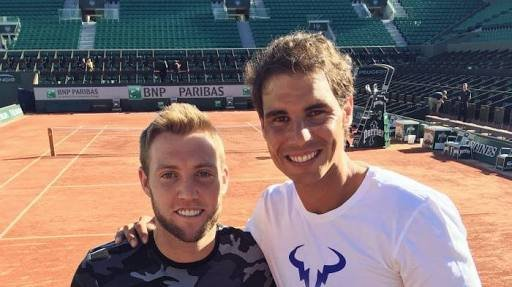 """Beautiful Girls?"" - Rafael Nadal Pulls Jack Sock's Leg During Interview"