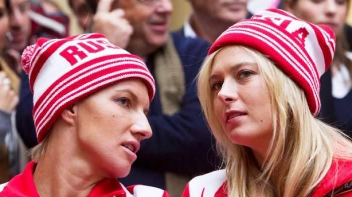 """Maria Sharapova and Svetlana Kuznetsova"