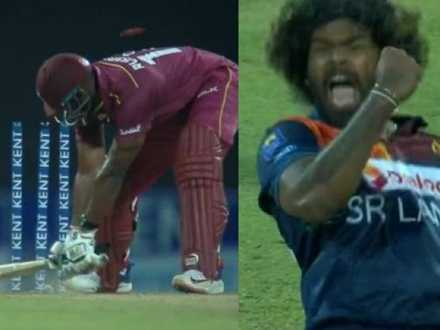 Malinga dismissing Andre Russell