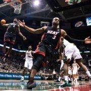 LeBron James Dwyane Wade NBA Miami Heat