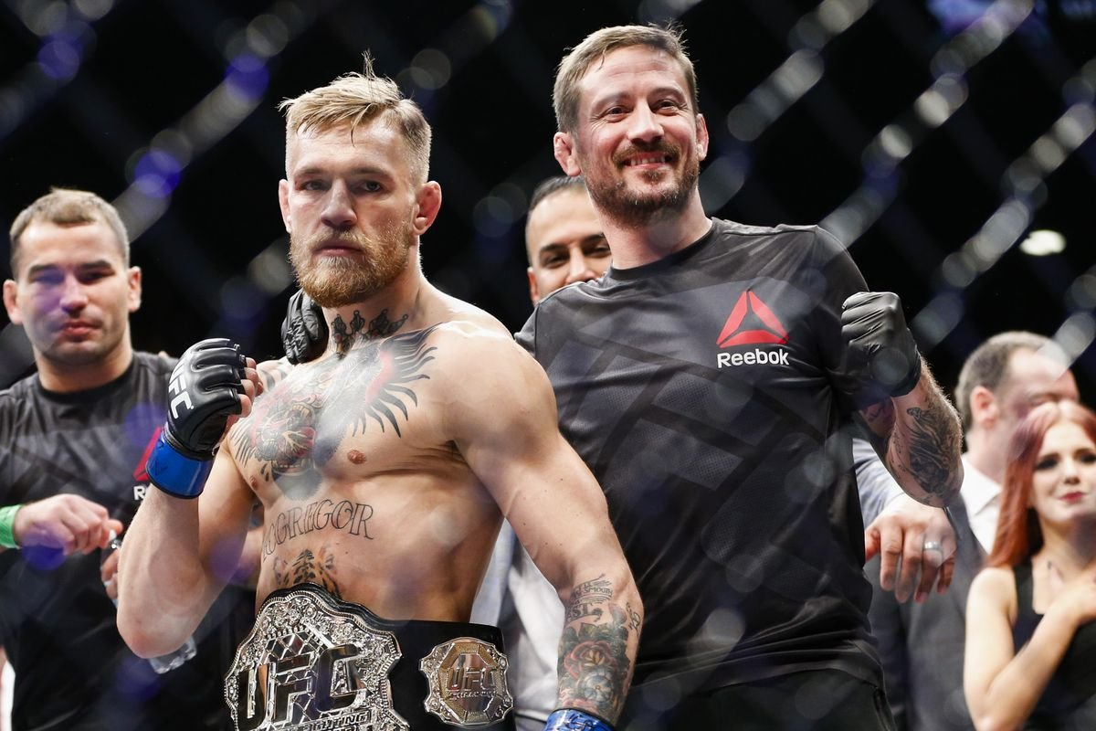 Kavanagh with McGregor after a win