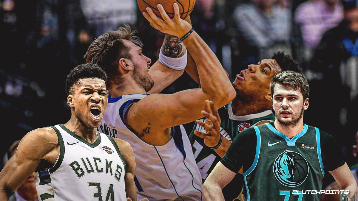 NBA Dallas Luka Doncic Bucks Giannis Antetokounmpo