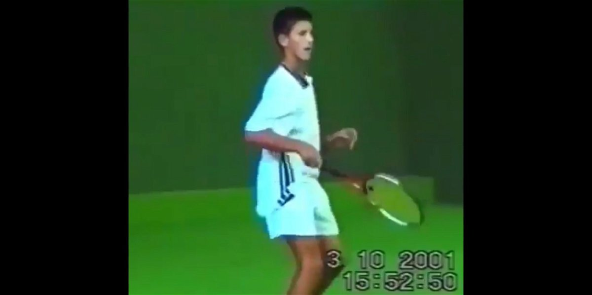 Watch A 14 Year Old Novak Djokovic Ripping Forehands Essentiallysports
