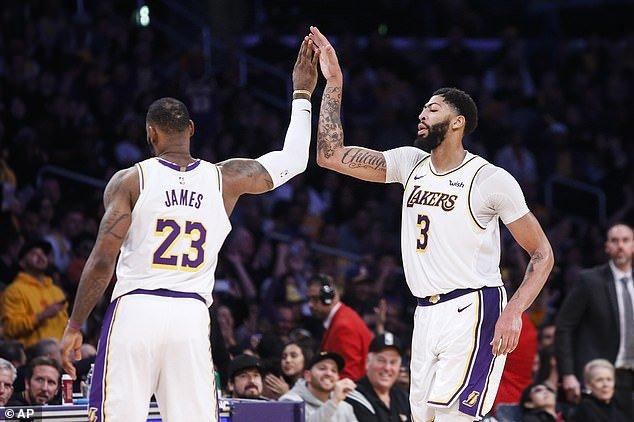 NBA LeBron James Anthony Davis LA Lakers Danny Green