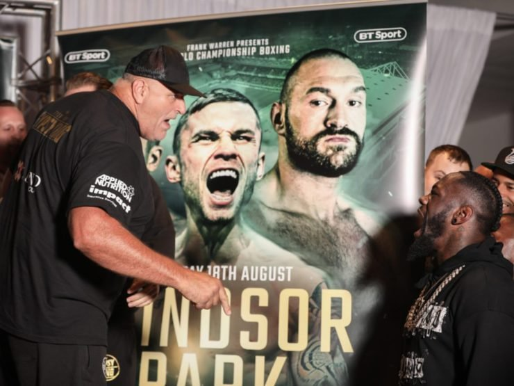 John Fury confronts Deontay Wilder