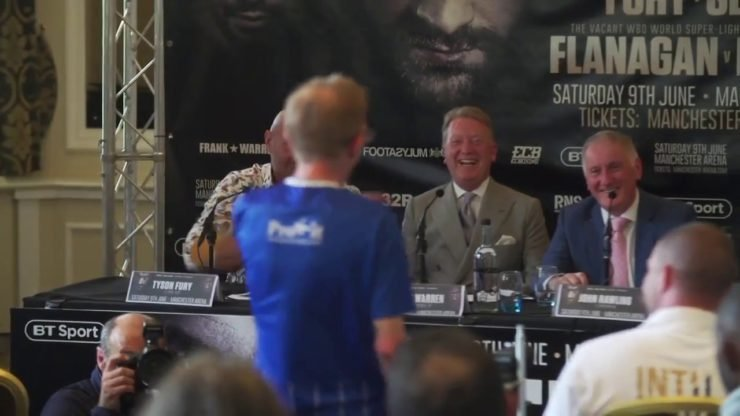 The Wealdstone intruding the press conference of Tyson Fury