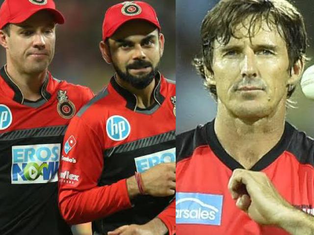 Virat Kohli, AB de Villiers, and Brad Hogg