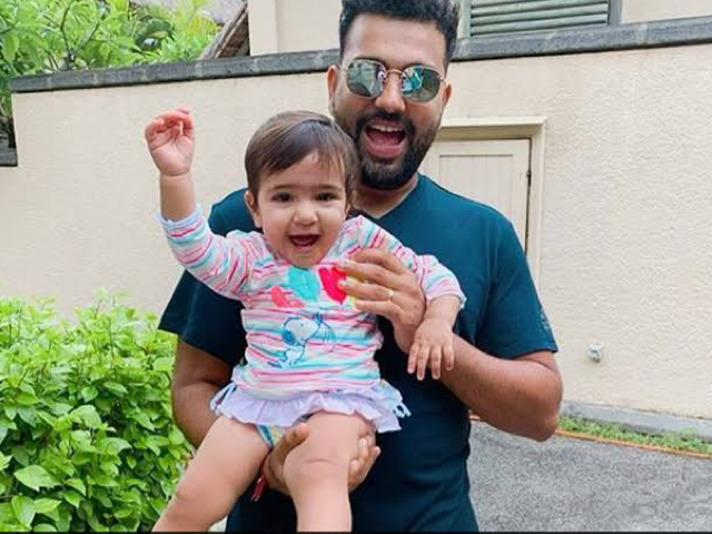 Rohit Sharma and daughter