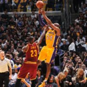 Kobe Bryant LeBron James NBA LA Lakers Cleveland Cavaliers