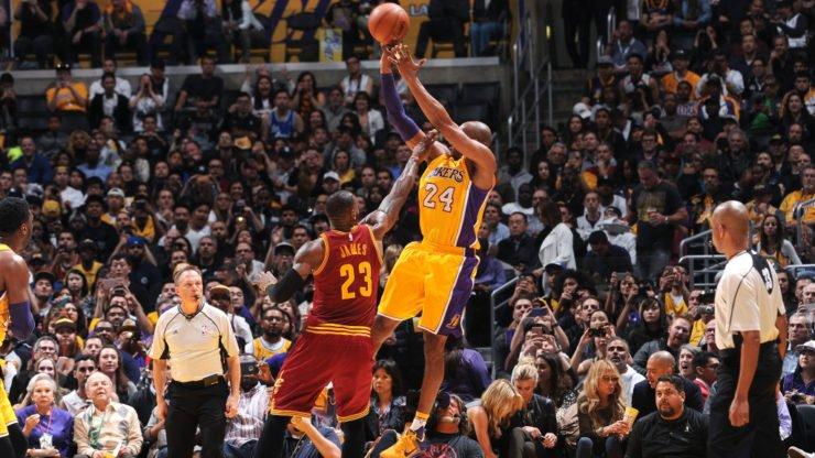 Kobe Bryant LeBron James NBA LA Lakers Cleveland Cavaliers