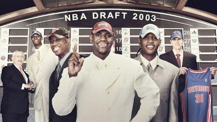 NBA Draft 2003 LeBron James Chris Bosh Dwyane Wade