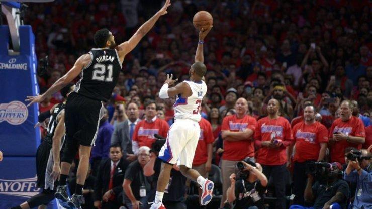 NBA Tim Duncan Chris Paul LA Clippers San Antonio Spurs