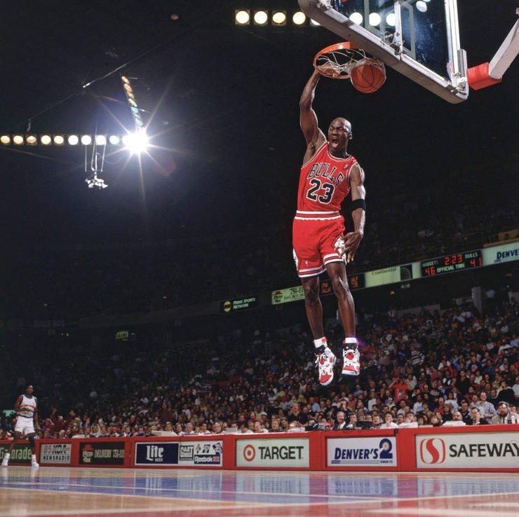 Michael Jordan Dunk Chicago Bulls NBA