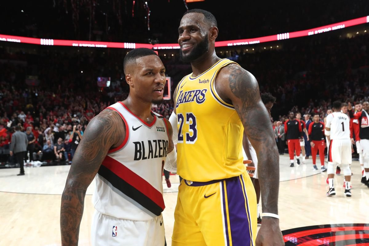 Damian Lillard and LeBron James