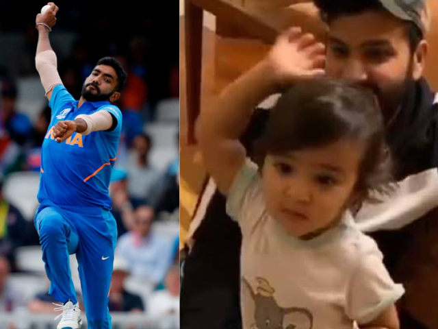 Jasprit Bumrah and Rohit Sharma's daughter