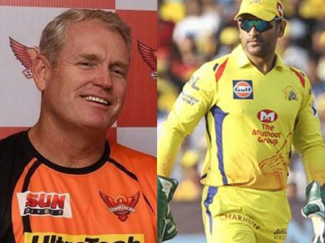 MS Dhoni and Tom Moody