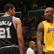 Tim Duncan and Kobe Bryant