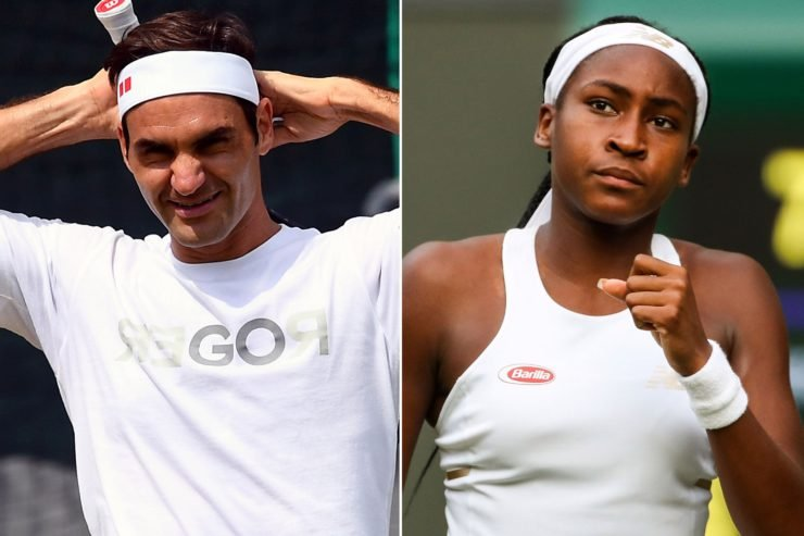 Coco Gauff and Roger Federer