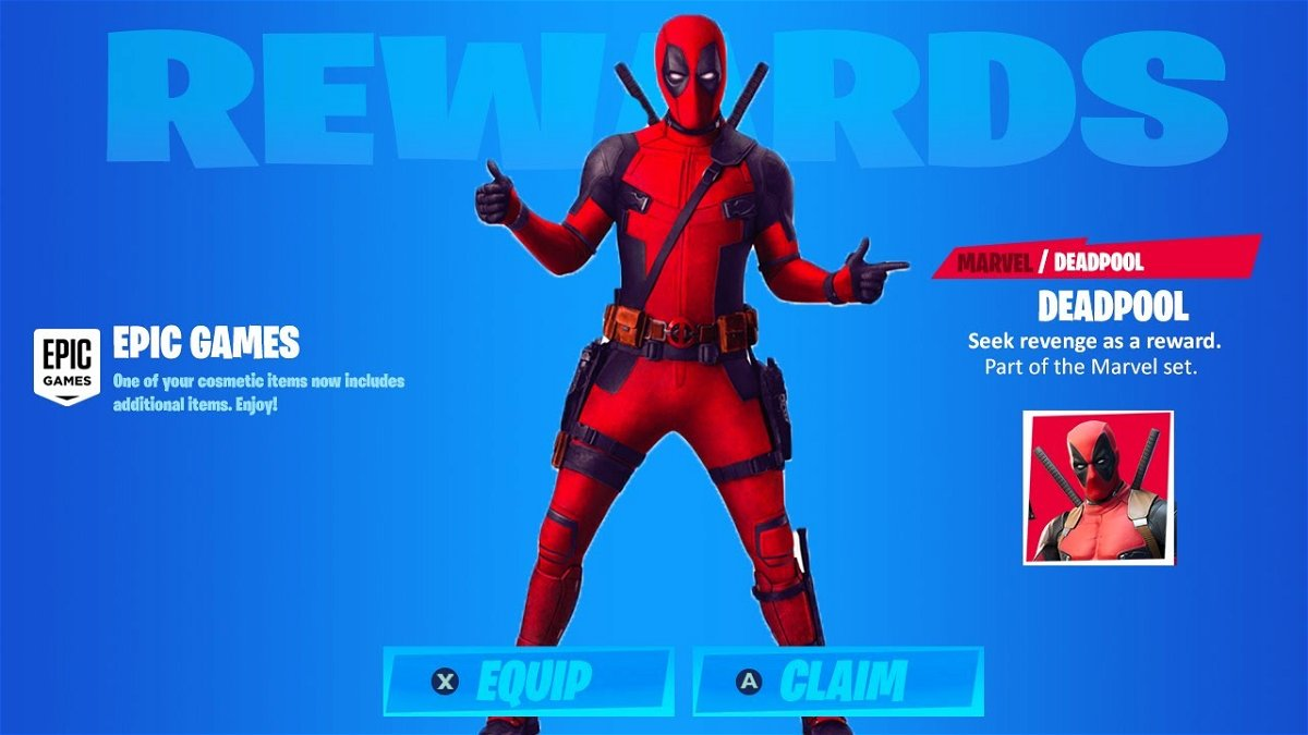 Fortnite How To Acquire Deadpool Unmasked Skin Essentiallysports Complete list of all fortnite skins live update 【 chapter 2 season 5 patch 15.10 】 hot, exclusive & free skins on ④nite.site. how to acquire deadpool unmasked skin