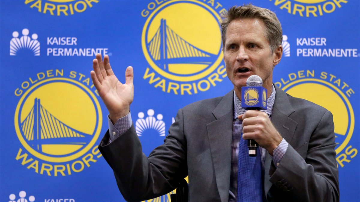 Golden State Warrrios coach Steve Kerr