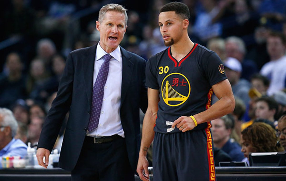 Stephen Curry and Steve Kerr