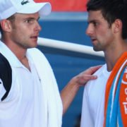 Novak Djokovic and Andy Roddick