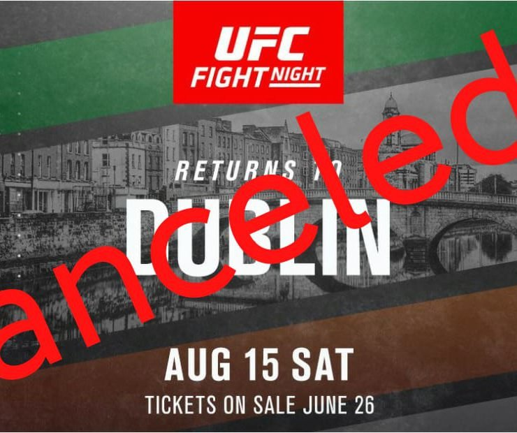 UFC Ireland canceled