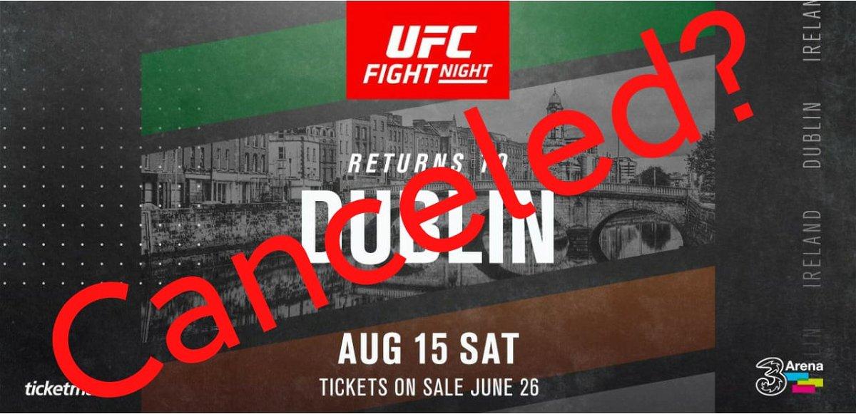 UFC Ireland canceled