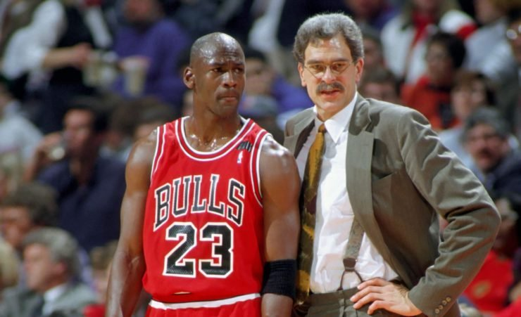 Michael Jordan and Phil Jackson