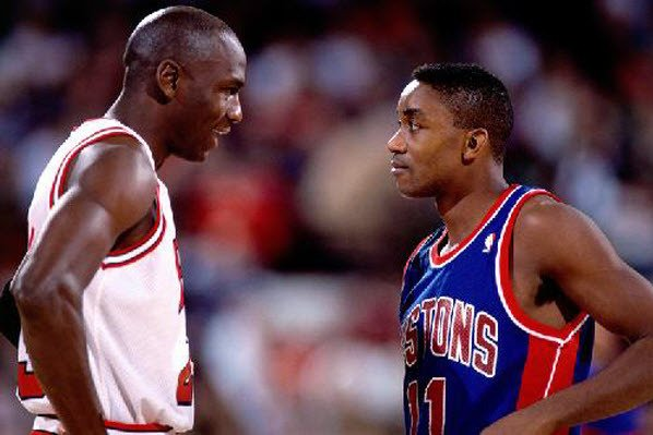 Isaiah Thomas and Michael Jordan
