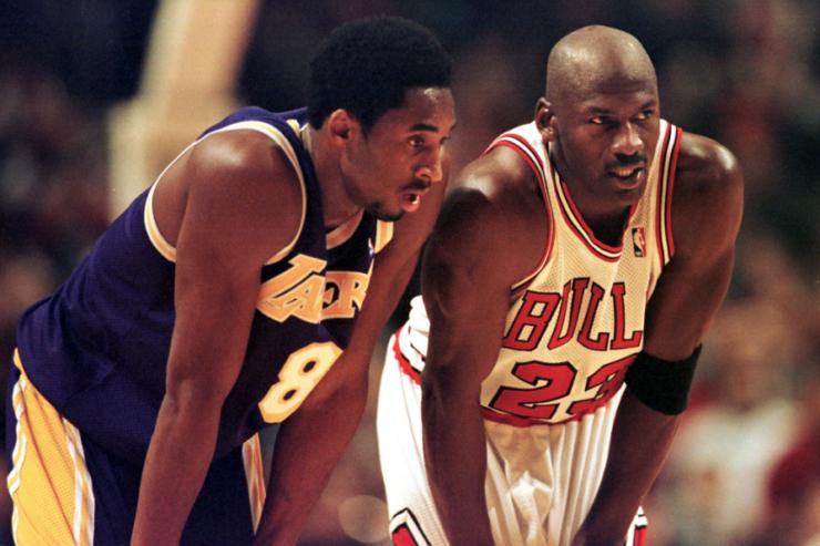 Kobe Bryant and Michael Jordan