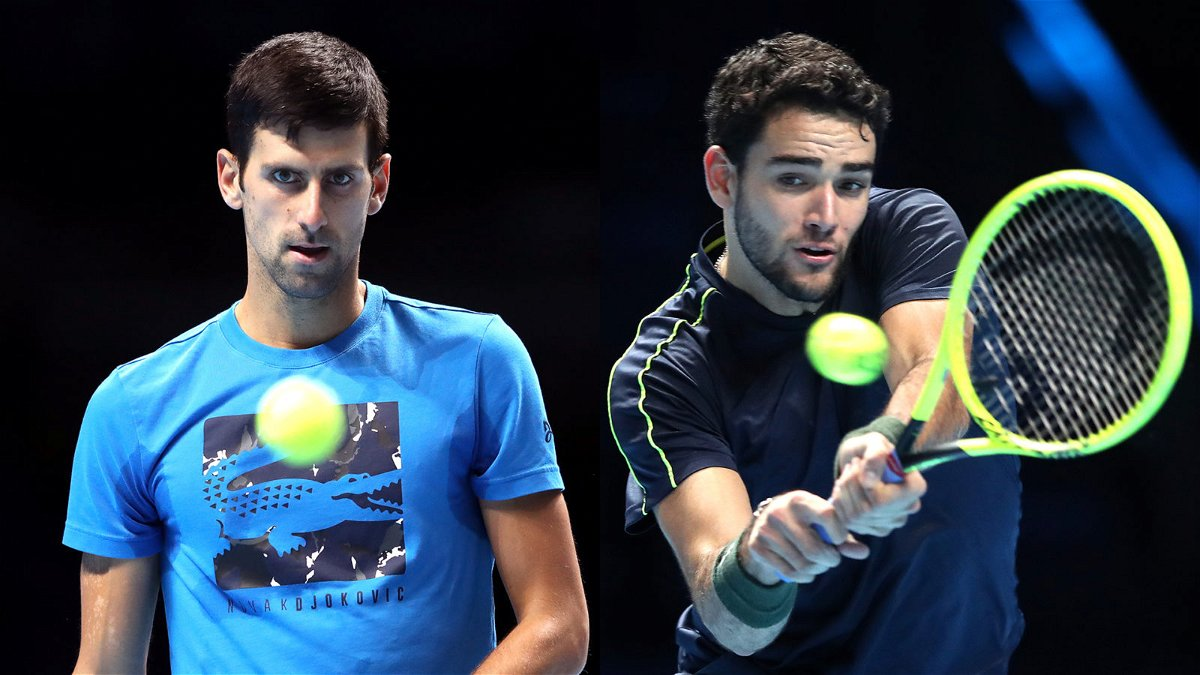 Novak Djokovic and Matteo Berrettini