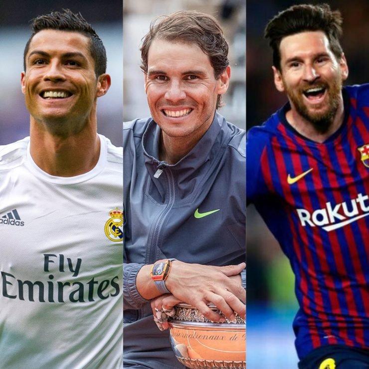 Rafael Nadal Lionel Messi Cristiano Ronaldo