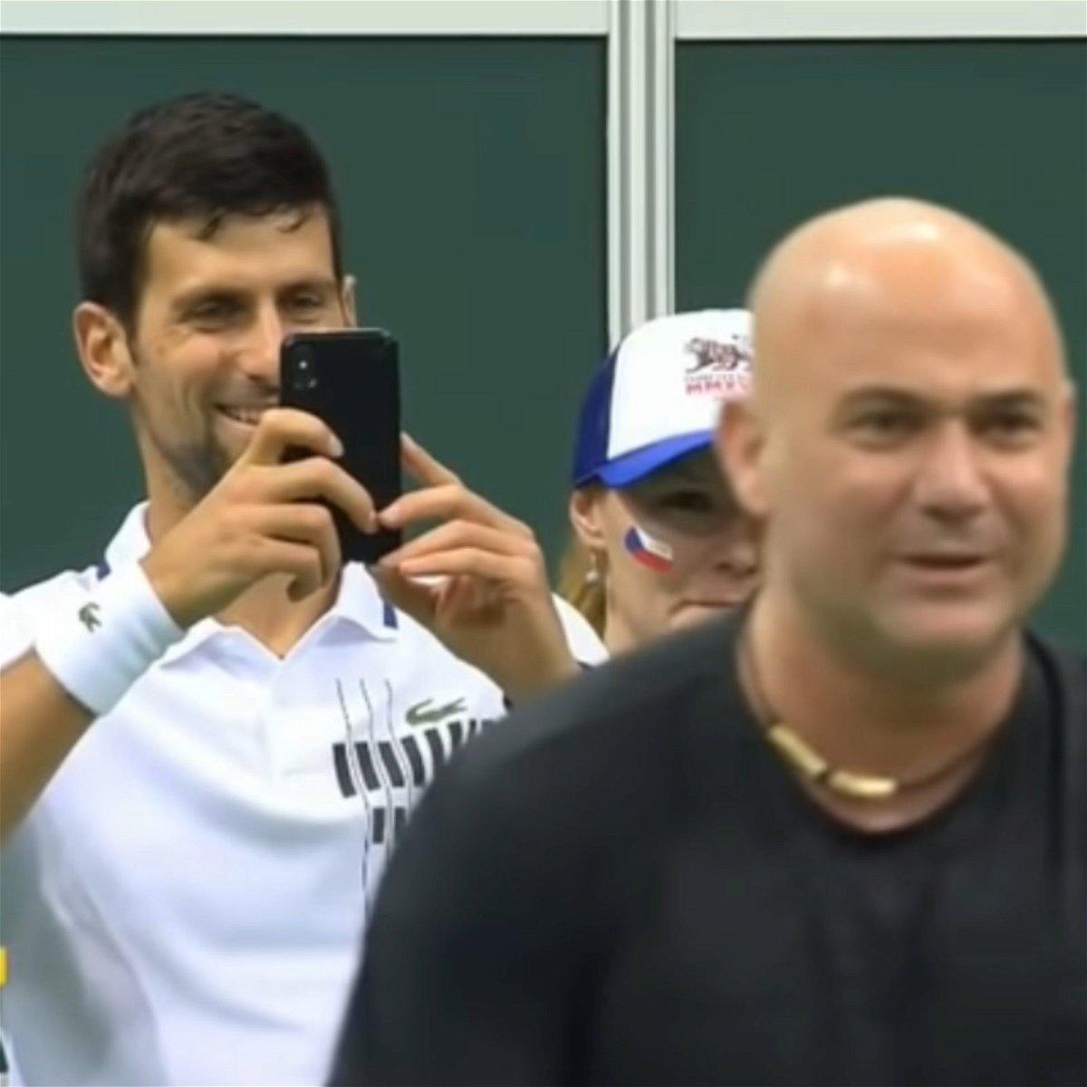 Novak Djokovic Andre Agassi