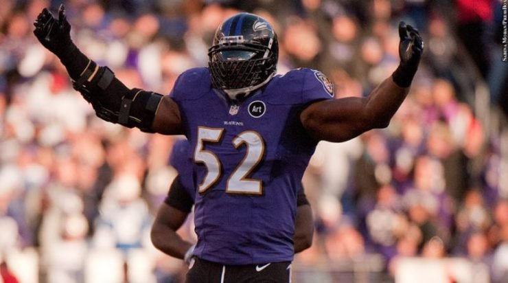Ray Lewis starred with Baltimore Ravens