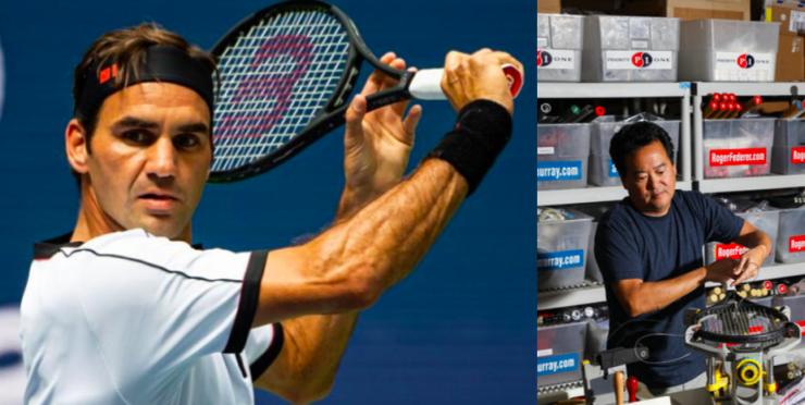 Roger Federer's Personal Stringer