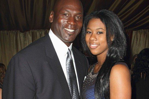 Michael Jordan with daughter Jasmine