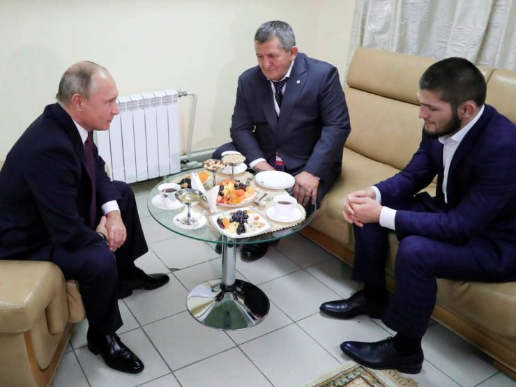 Khabib Nurmagomedov and Vladimir Putin