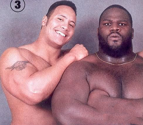 The Rock and Mark Henry