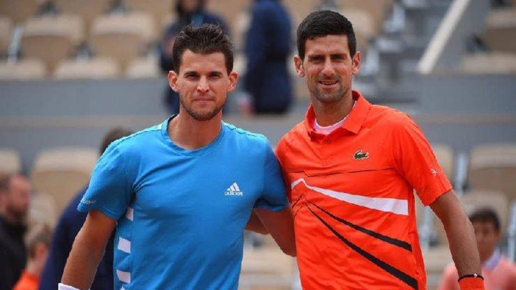 Novak Djokovic Dominic Thiem