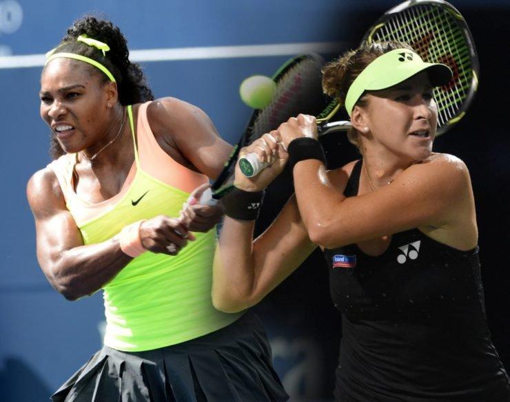 Serena Williams and Belinda Bencic