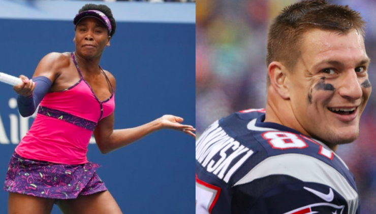 Venus Williams and Rob Gronkowski