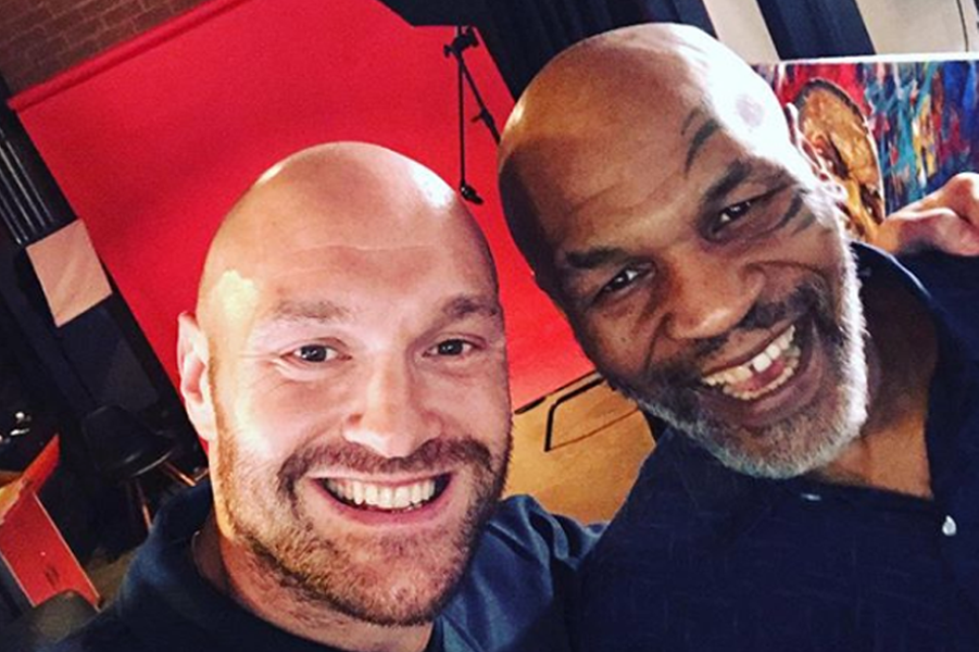Tyson Fury and Mike Tyson