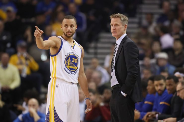 Steve Kerr and Stephen Curry