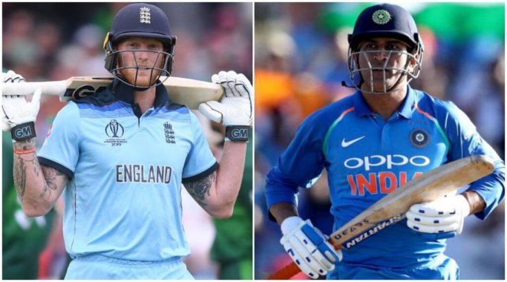 Ben Stokes and MS Dhoni