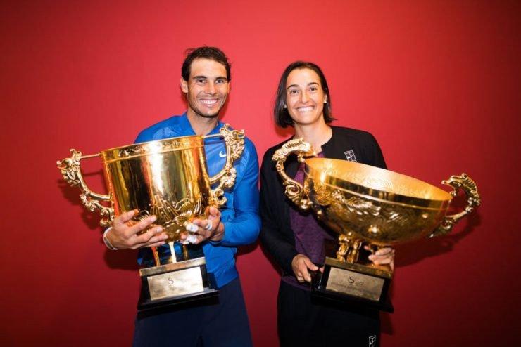 Rafael Nadal and Caroline Garcia