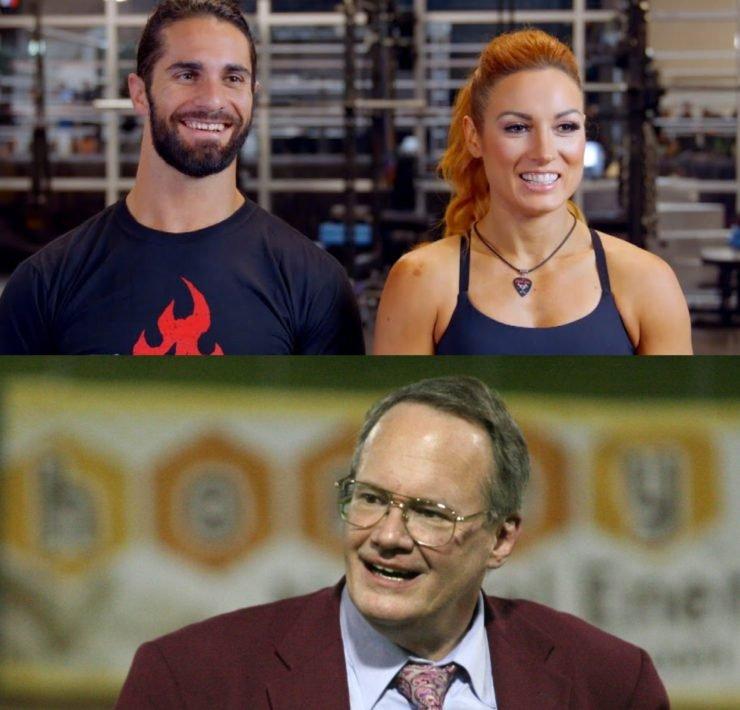 Becky Lynch Seth Rollins Jim Cornette