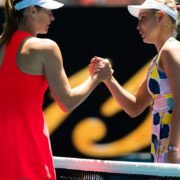 Maria Sharapova and Donna Vekic