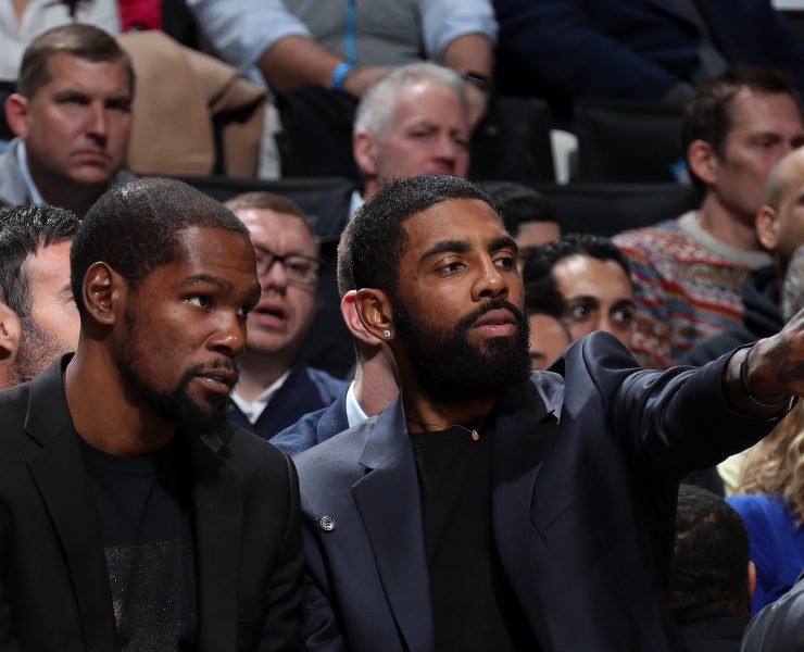 Brooklyn Nets Kevin Durant and Kyrie Irving